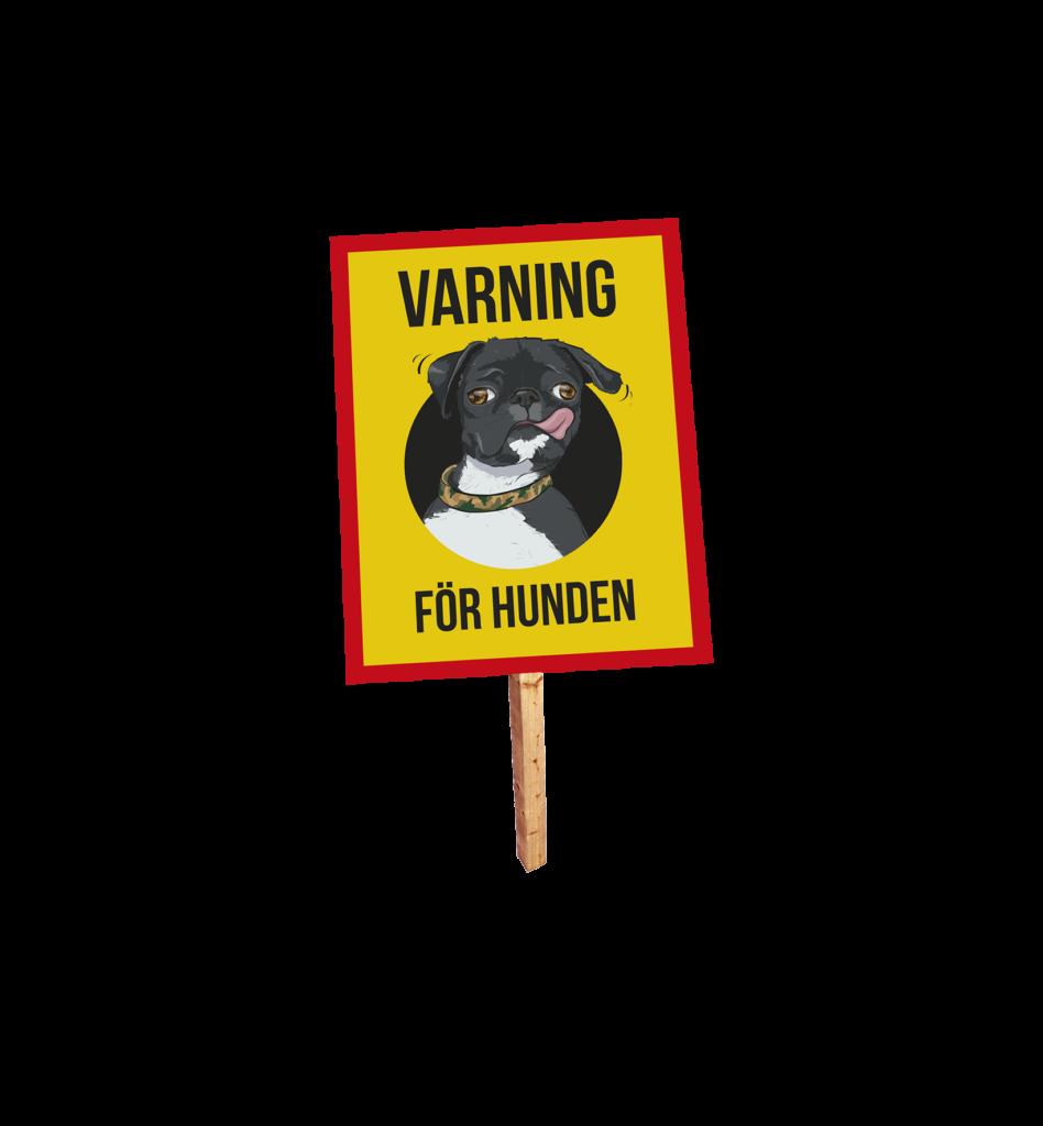 Varning för hunden